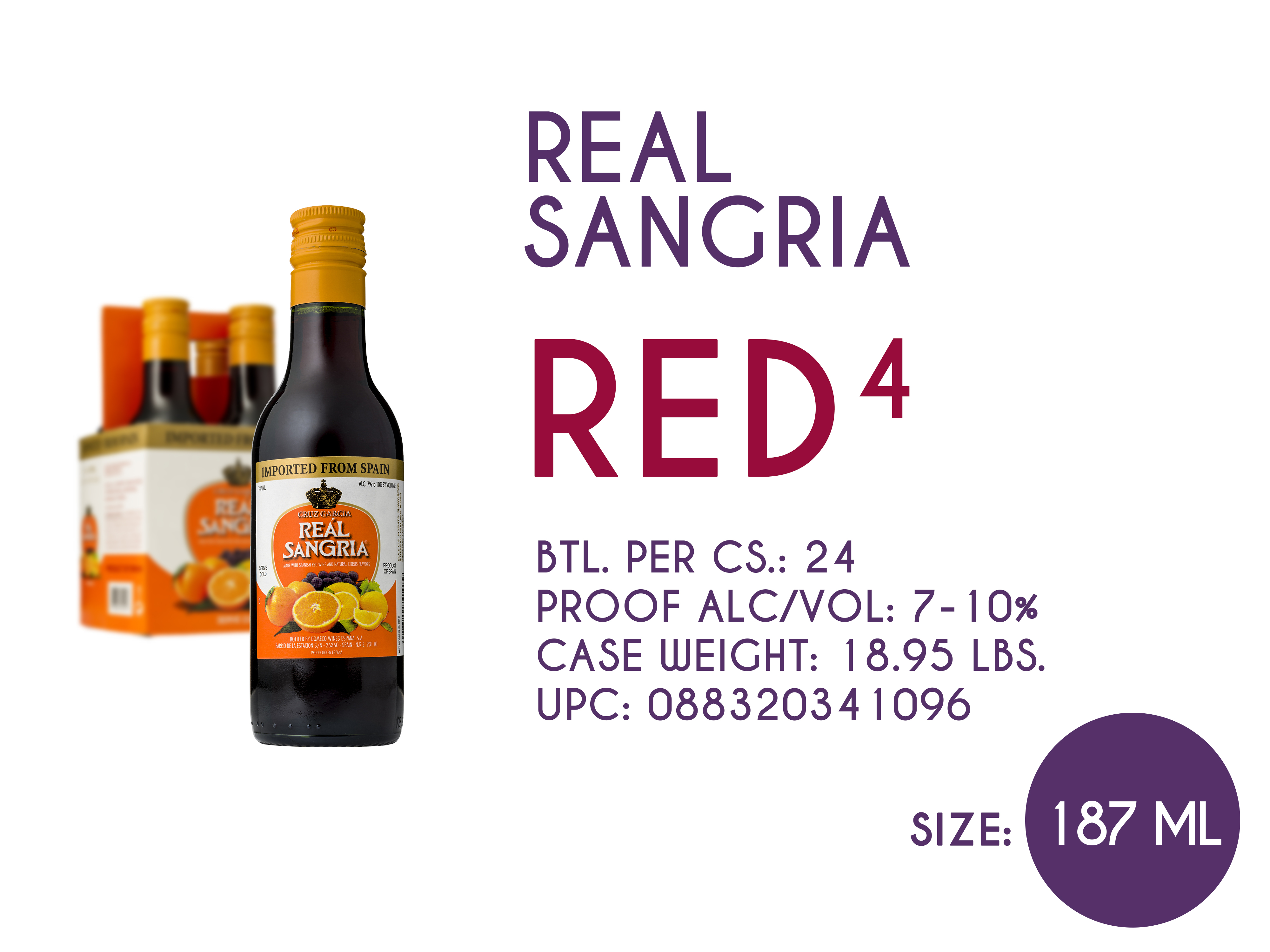 Real Sangria Red 187ml
